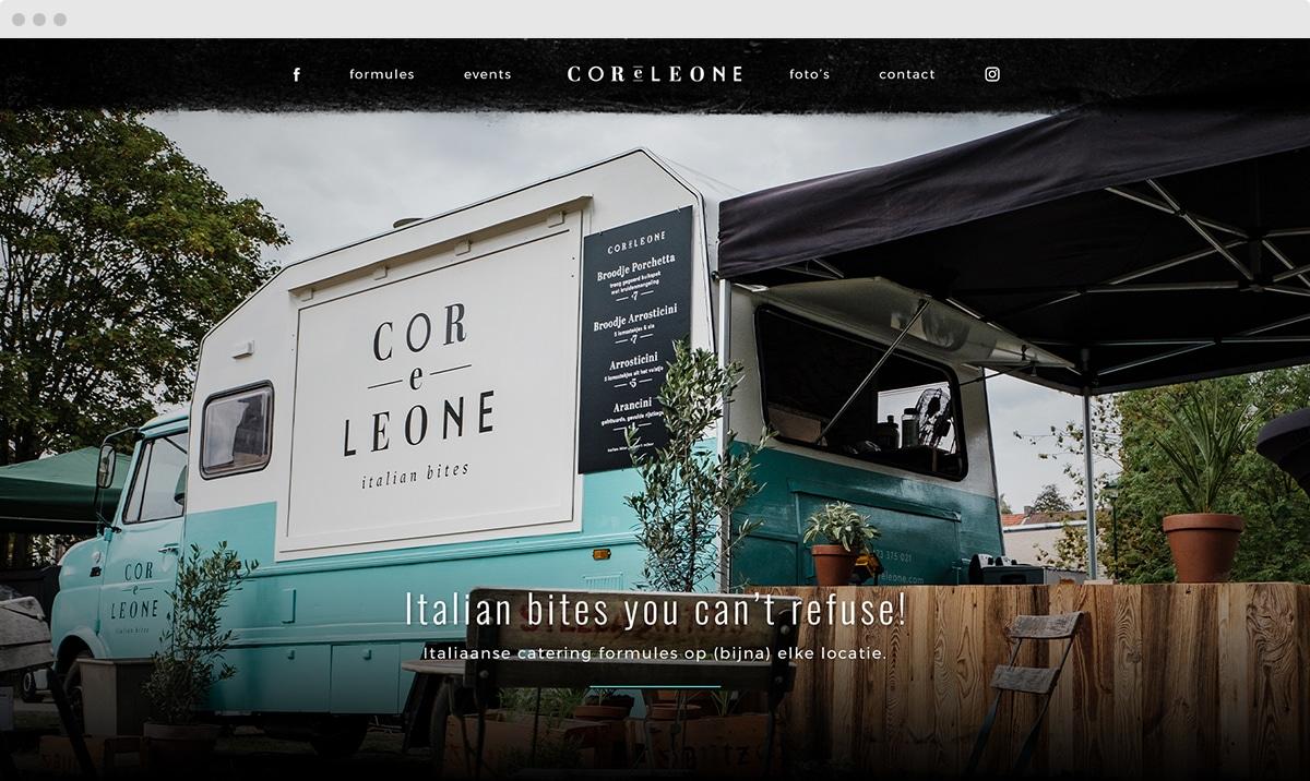 m33 portfolio - Cor e leone - webdesign