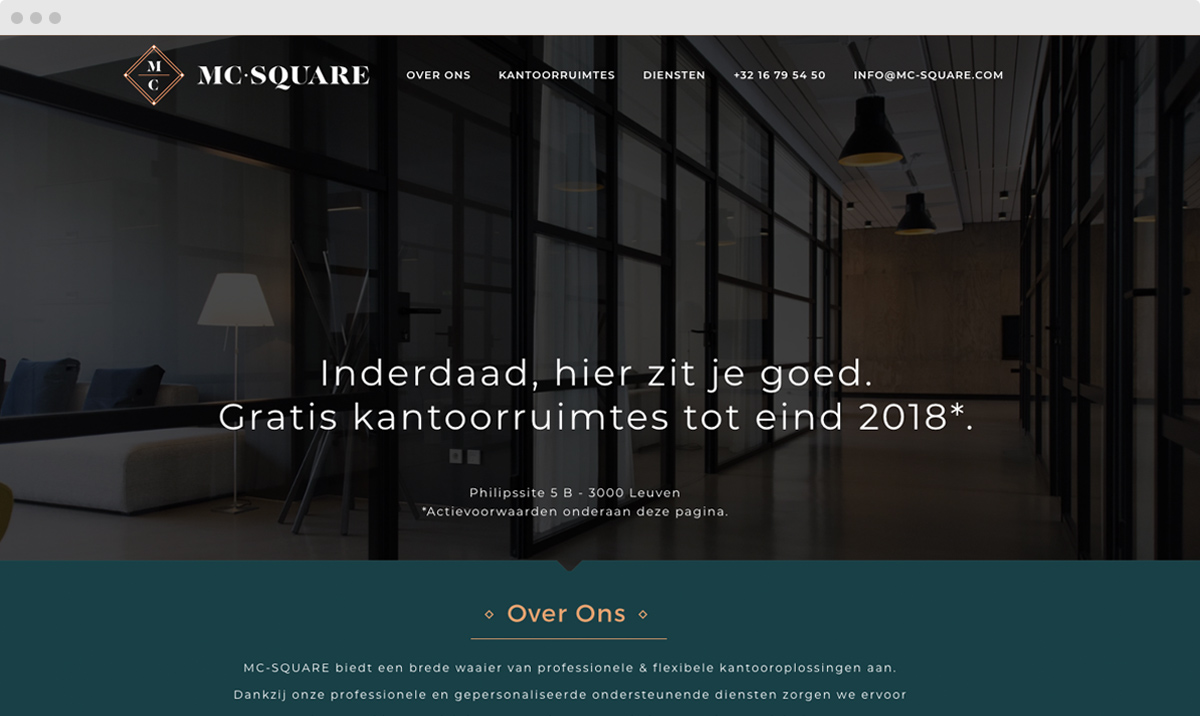 m33 portfolio - MC-SQUARE - webdesign
