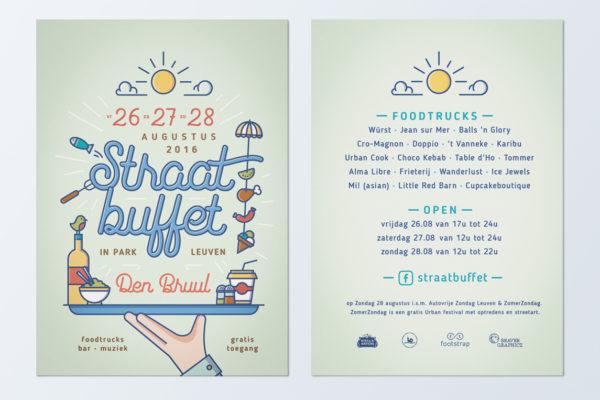 Straatbuffet - Flyer 2016